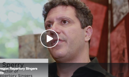 Ethan Sperry of Oregon Repertory Singers
