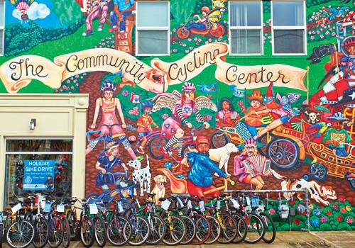 Art Dept: Community Cycling Center Mural